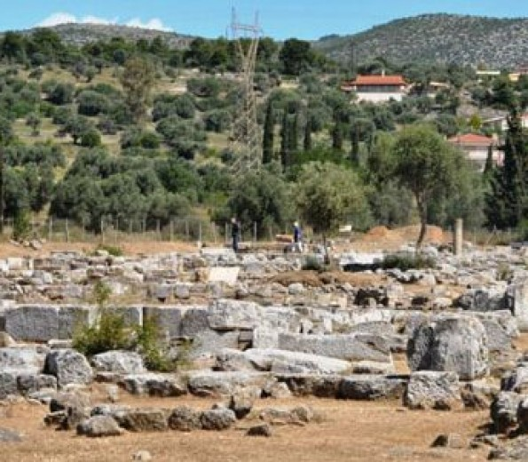 Archaeological site and ruins of ancient Eretria