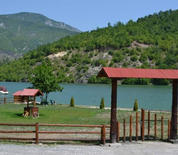 Jazz beach in the Drina river